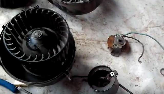 Вентилятор и моторчик печки Ваз 2109