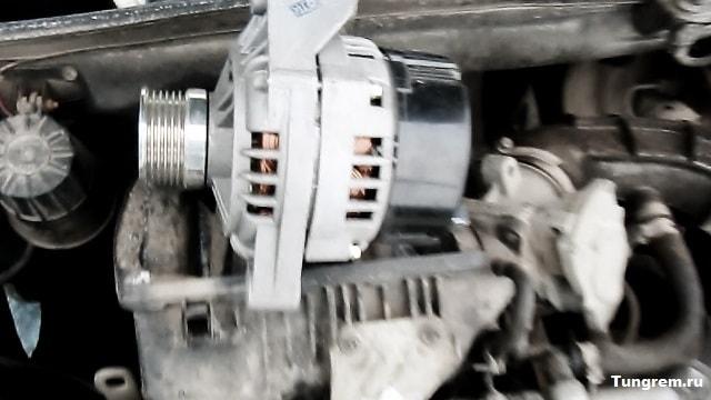 ustanovka generatora bez natyagitelya kalina - Установка генератора лада калина